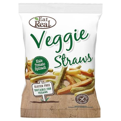 Eat Real Veggie And Kale Straws 113g