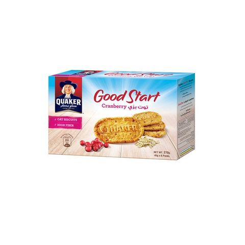 Quaker Good Start Biscuit Cranberry 6x45g