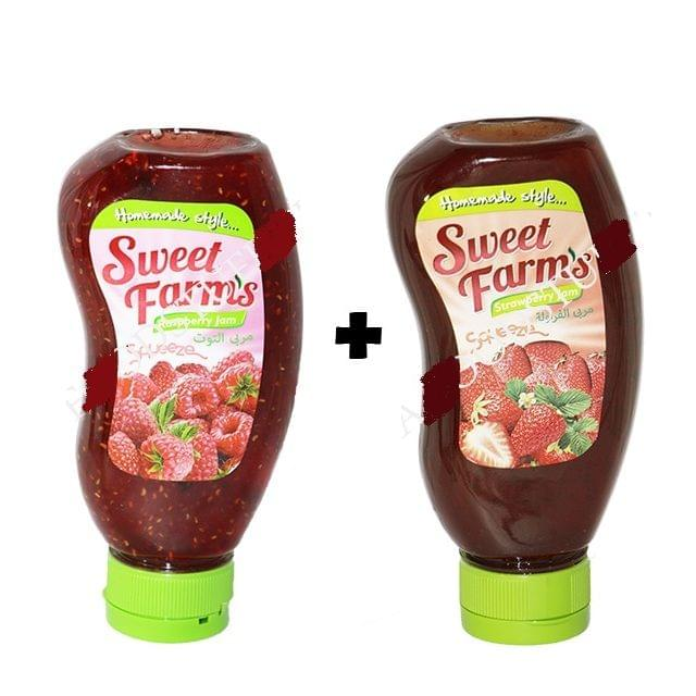 Sweet Farms Strawberry & Raspberry 1+1free
