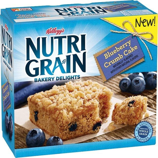 Kellogg's Nutrigrain Bar Blueberry-Gbr 6sx37g
