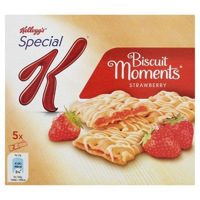 Kellogg's Biscuit Moments Strawberry 5 x 25gm