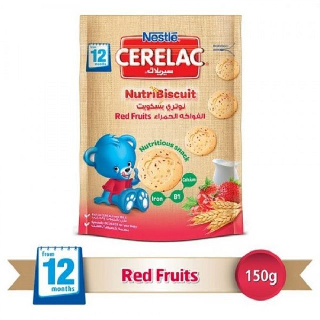 Nestle Cerelac Biscuit Red Fruits 150g