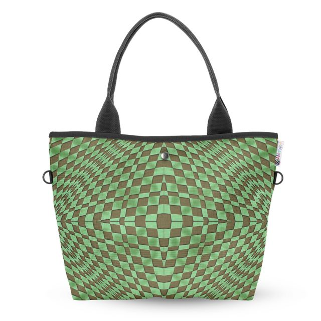 Pseudo Square Wide Tote Bag