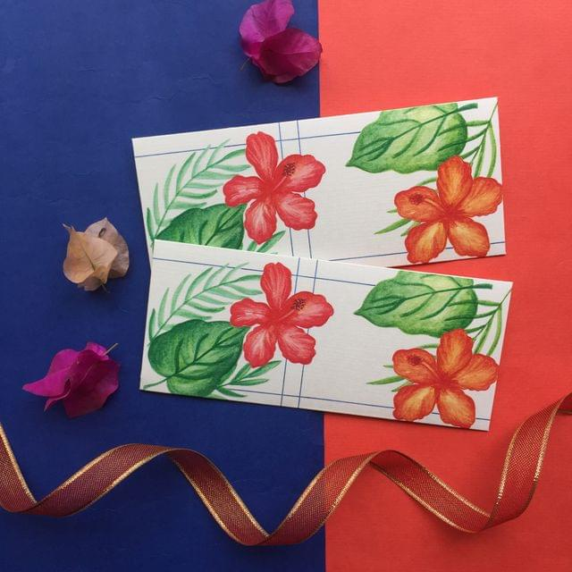 Hibiscus & leaves Money Envelope set