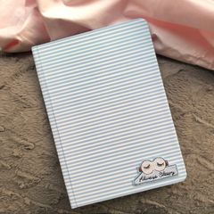Blue Stripes Hardbound Journal | Customize with a patch of your choice