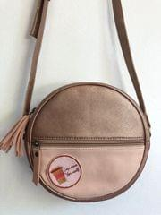 Prismatic Round Sling Bag with Patch - Rose Gold & Pastel Pink | Customize with a patch