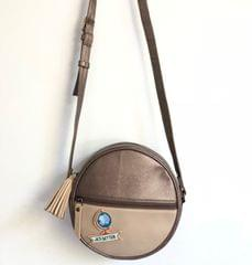 Prismatic Round Sling Bag - Bronze & Beige | Customize with a patch