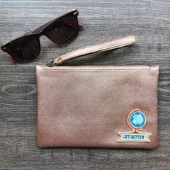 Disco Wristlet Pouch - Rose Gold | Customize with a patch of your choice
