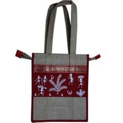 Trendy Jute Bag-Warli Art-JC12
