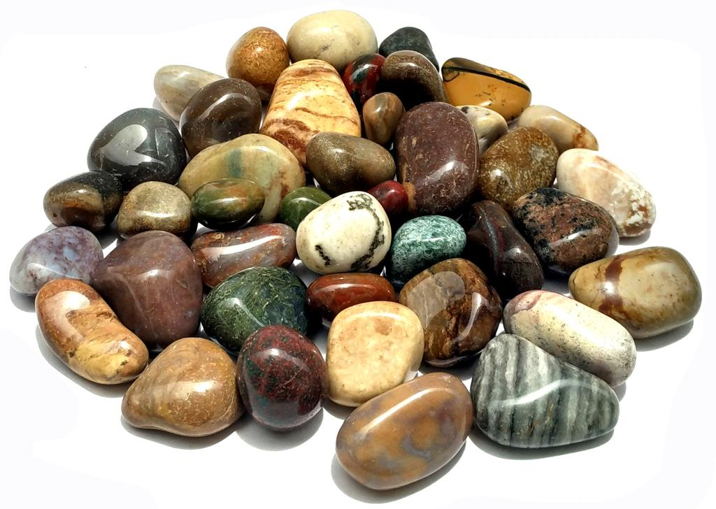 Agates (Akik) of Cambay- Fancy Multicolored Tumbled Pebbles