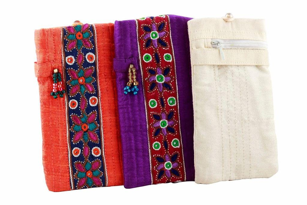 Embroidered Handcrafted Glare Glass Case -VIVEKA