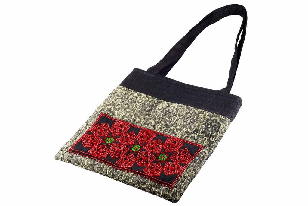 Embroidered Handcrafted Office Bag (JS-115)-VIVEKA