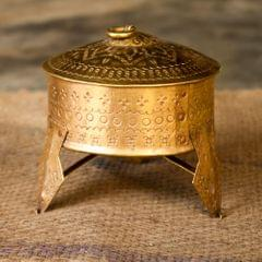 Hand Crafted Brass Standing Mukhwas (Mouth Freshner) Box