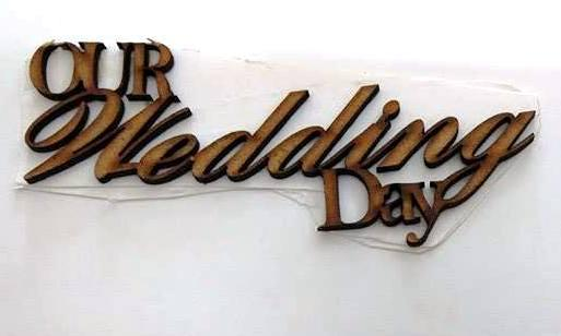 WE Letter Our Wedding Day