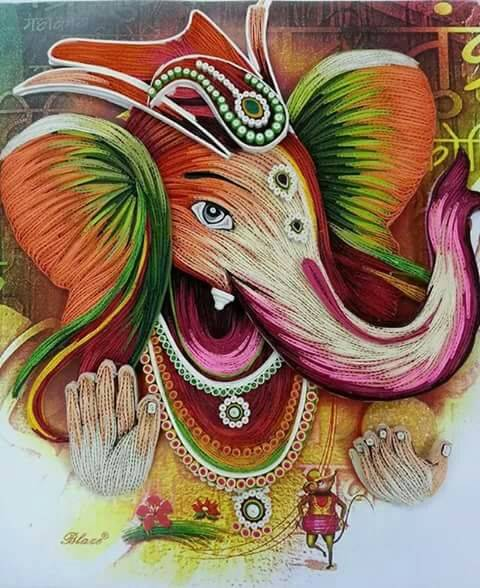 Ready Quilled Ganesha C