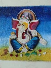 Ready Quilled Ganesha M