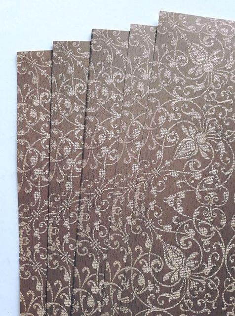 Handmade Paper - Brown Ornate - Brown Ornate