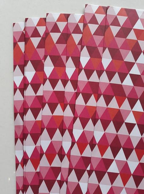 Fancy Scrapbook Papers - Pink Triangles