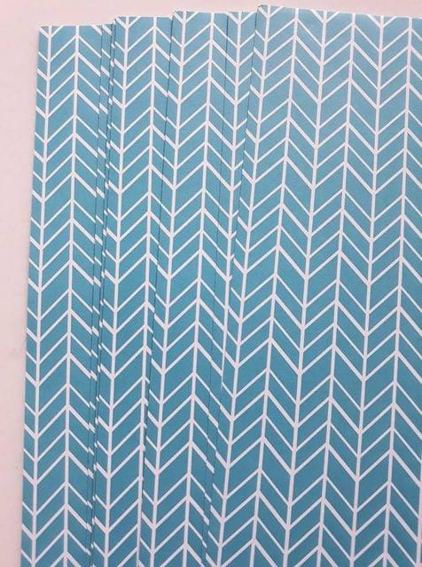 Fancy Scrapbook Papers - Turquoise Feature