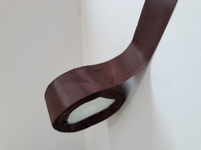 Oasis Satin Ribbon Brown 30.48mm X 10Meter