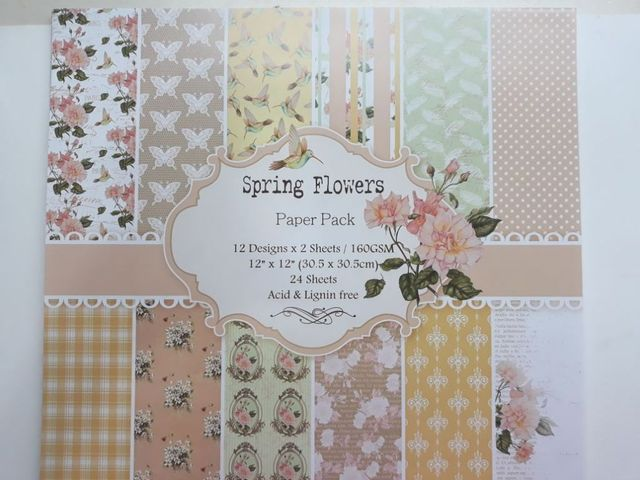 "Paper Pack - Spring Flowers 12"" X 12"""