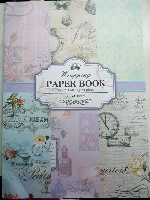 Paper Pack - Wrapping Paper Book. 300 X 420mm