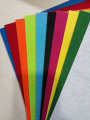 Oasis Felt Sheet A3 size 2mm Pack Of 10 Assorted Colors Sheets.