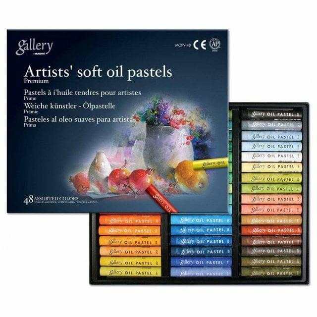 Artist's Soft Oil Pastels 48 Colors in Packet.