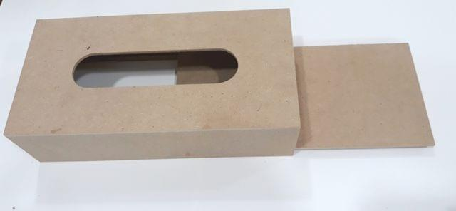 Wooden Tissue Box Rectangle in Shape.
