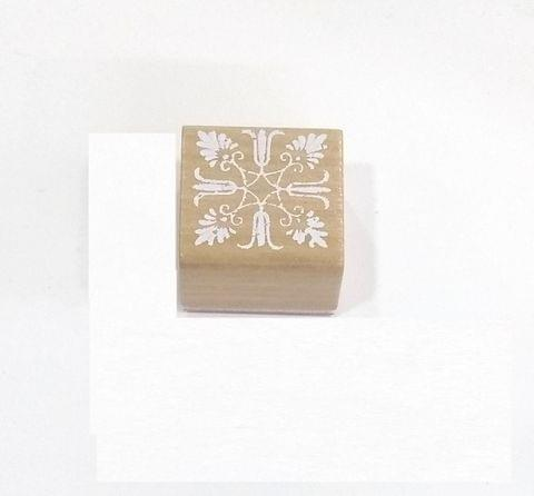 Wooden Stamp in Square Shape.Design 02