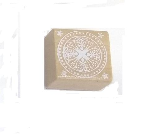 Wooden Stamp in Square Shape Design 05