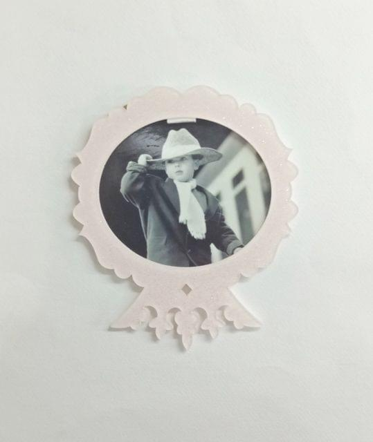 Acrylic Glitter Photo Frame light Pink