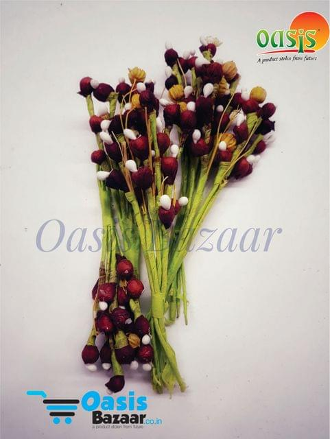 Mulberry Cherry Fillers Dark Red In Colour Pack of 12 bunches