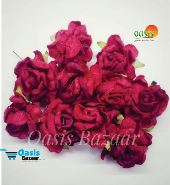 Curly Rose Flowers Red in Color Pack of 2 Bunches