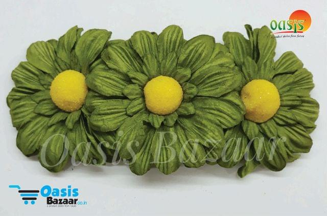 Sun Flowers Color Light Olive Green and Yellow 10.