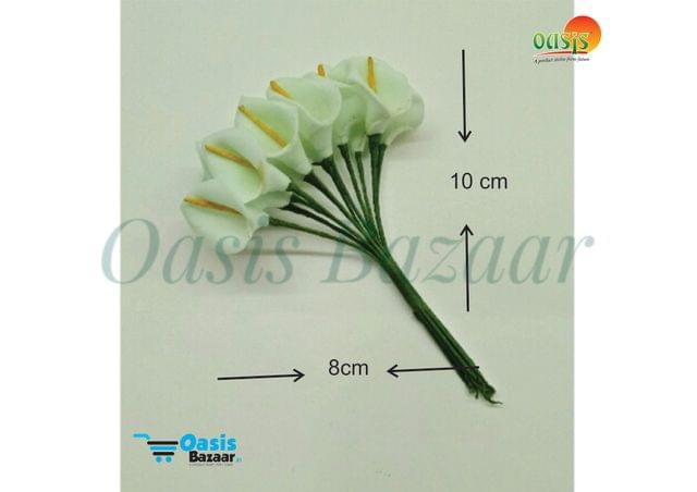 Calla Lily (Foam Fillers) 24 Fillers of Packet Pastel Green in color