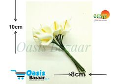 Calla Lily (Foam Fillers) 24 Fillers of Packet Off White in color
