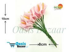 Calla Lily (Foam Fillers) 24 Fillers of Packet Pink in color