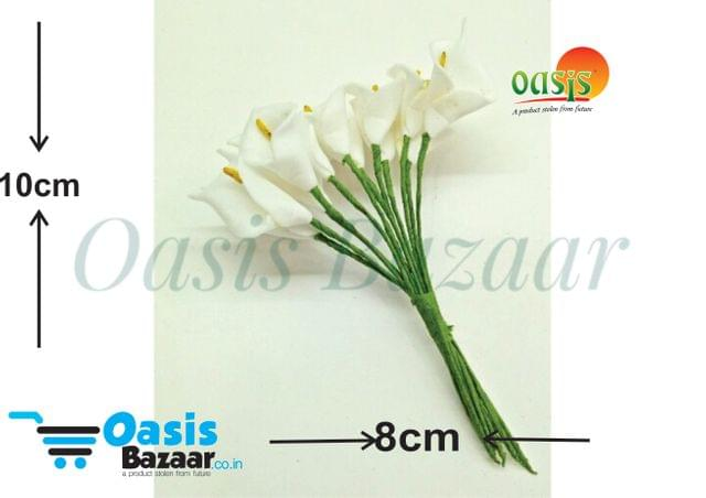 Calla Lily (Foam Fillers) 24 Fillers of Packet Milky White in color