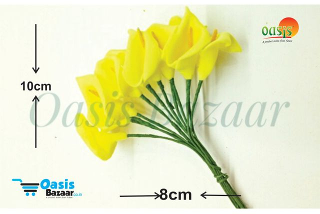 Calla Lily (Foam Fillers) 24 Fillers of Packet Lemon Yellow in color