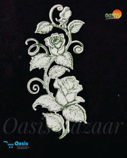 Paper Die Cut Classic Rose Wine Leaves 01 With Stamp 10pcs in Pack.