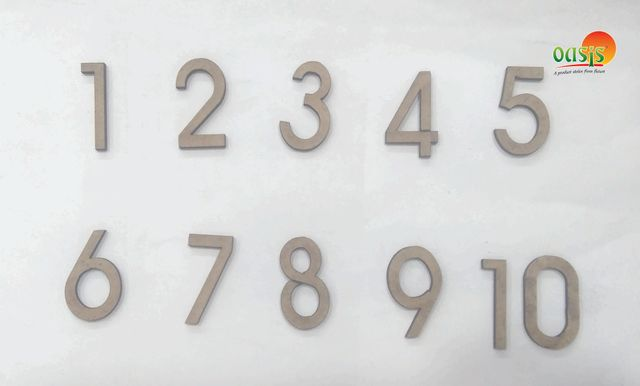WE lettering Numbers 0 to 10.