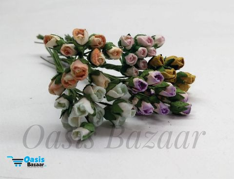 Micro Mini Rose Buds Pack of 50 buds 5 mm in Size 12