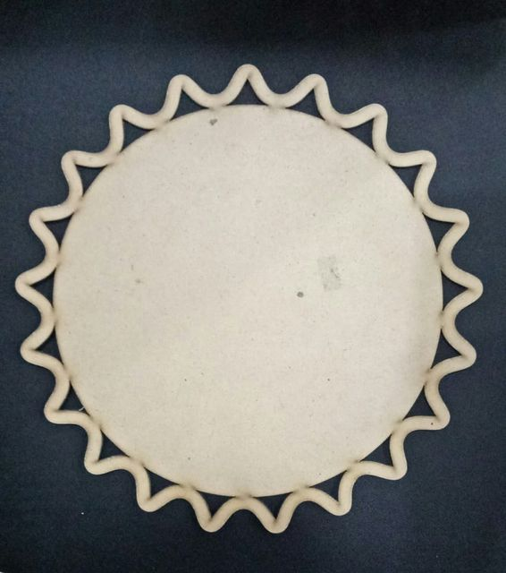 WE Diya Plate Carved Border