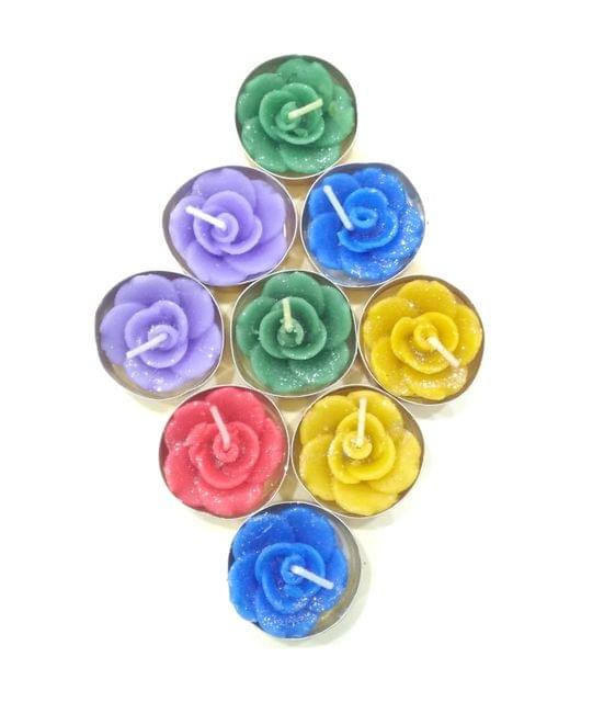 Tea Light Assorted in color pack of 10 candles.