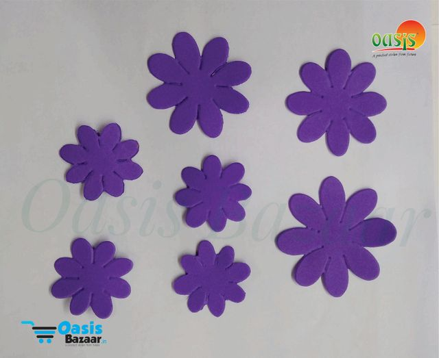 Foamerian Flower shape cutouts pack of 100 03
