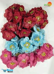 Poppy Rose Flowers Mix Color Pack of 10 Bunches.