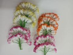 Thai Paper Flowers pack of 10 Assorted Bunches. 10mm in Size. 05