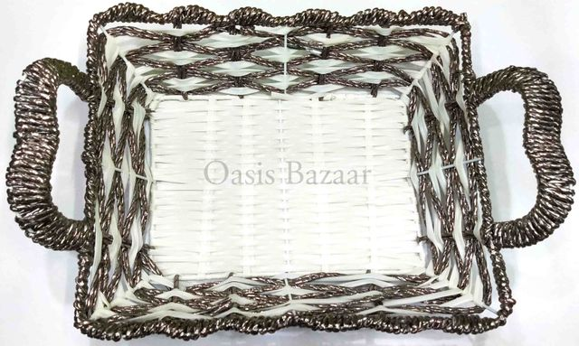 Gift Baskets & Trays Silver -19
