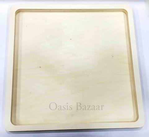 Wooden Square Plate Small -22